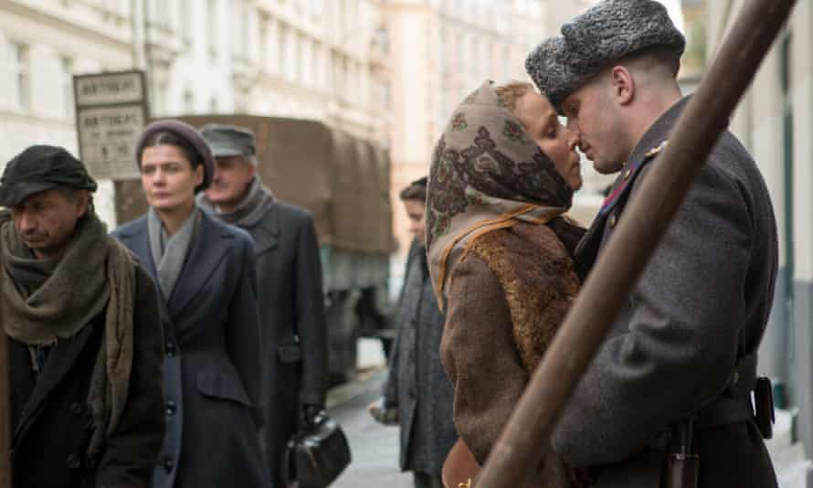 Noomi Rapace and Tom Hardy in a scene from Child 44. The ministry said after viewing the film: 'It is unacceptable to show this kind of film on the eve of the 70th anniversary of victory.'