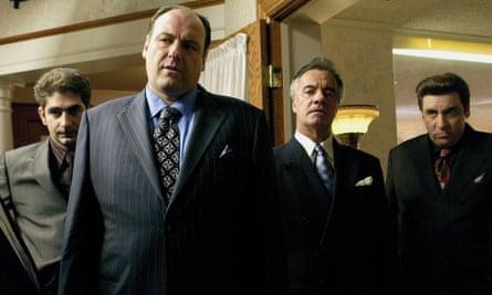 Michael Imperioli, James Gandolfini, Tony Sirico and Steve Van Zandt in The Sopranos.