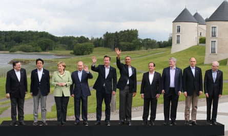 David Cameron and world leaders at the G8 2013 meeting in Enniskillen, Northern Ireland.
