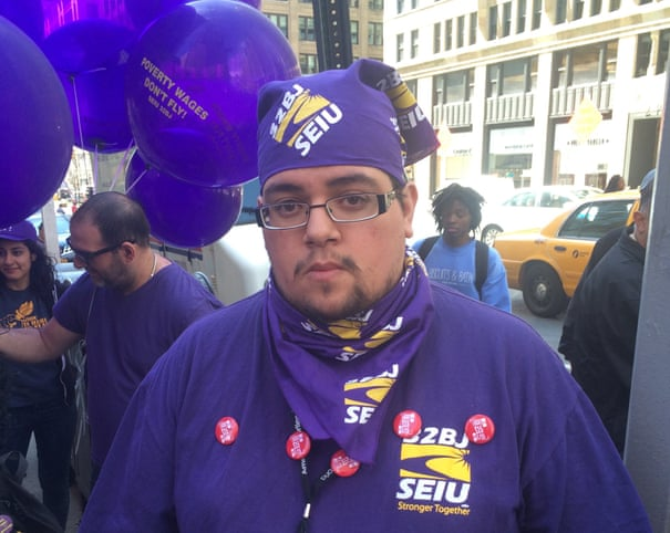 Fight for $15: workers across US protest to raise minimum