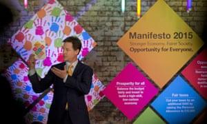 Nick Clegg launches the Lib Dem 2015 manifesto.