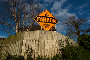 Signs for Liberal Democrat candidate Tim Farron in Westmorland and Lonsdale