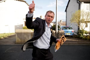 Tim Farron canvassing in Kendal