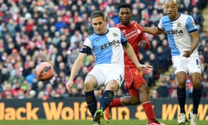 Liverpool played Blackburn Rovers at Anfield in Liverpool on 8 March.