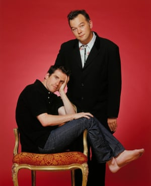 Stewart Lee and Richard Thomas, writers of Jerry Springer – the Opera.