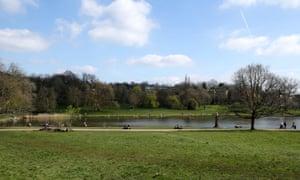 Hampstead Heath, north London.
