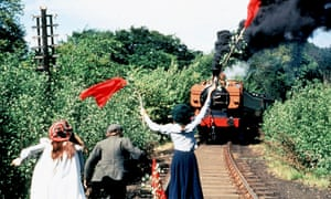 Wave that petticoat! Sally Thomsett, Gary Warren and Jenny Agutter in the 1970 film adaptation of The Railway Children.