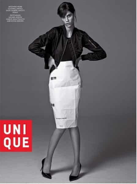 Yes it's paper: an imagining of Carine Roitfeld's Uniqlo collaboration in CR