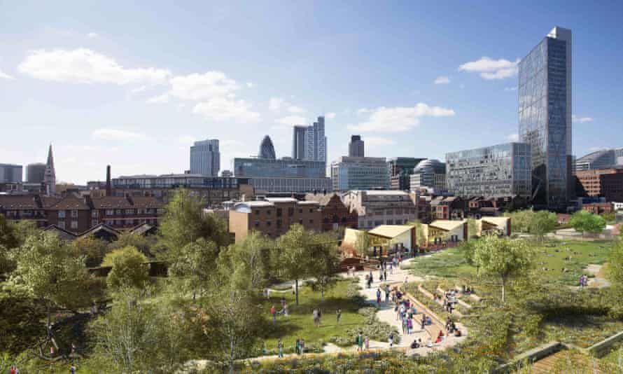 A High Line for London? What the Braithwaite viaduct in Shoreditch might look like.