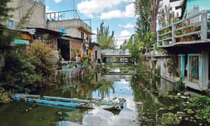 The chinampas (floating gardends) of Xochimilco located in the south of Mexico CIty