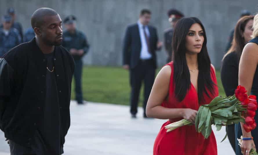 Kim Kardashian and Kanye West visit the memorial to the victims of genocide in Yerevan, Armenia.