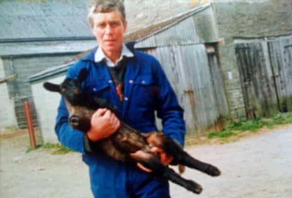 photo of David Layton during happier times as a sheep farmer