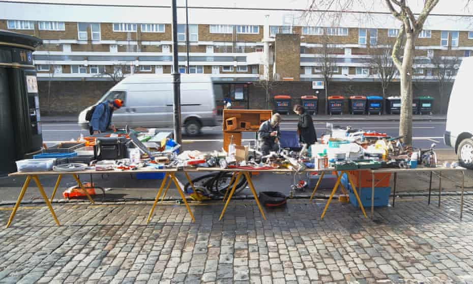 Harry West's stall in the Waste on Kingsland Road, east London.