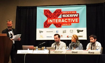 The Mobile UX Revolution panel take their seats at SXSW.