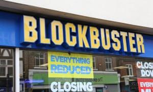 Blockbuster closing down sale