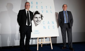 Thierry Fremaux and Pierre Lescure at the Cannes press conference today.