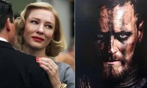 Cate Blanchett in Carol and Michael Fassbender in Macbeth