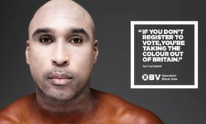 Sol Campbell in the Operation Black Vote campaign.