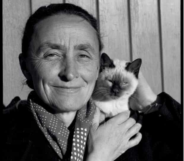 Petal … Georgia O'Keeffe with cat
