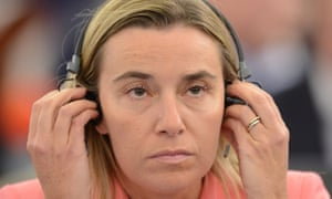 Federica Mogherini of Italy, during the plenary session at the European Parliament in Strasbourg.