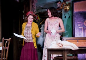 Imelda Staunton with Lara Pulver as her reluctant daughter Louise in Gypsy by Laurents, Styne and Sondheim.