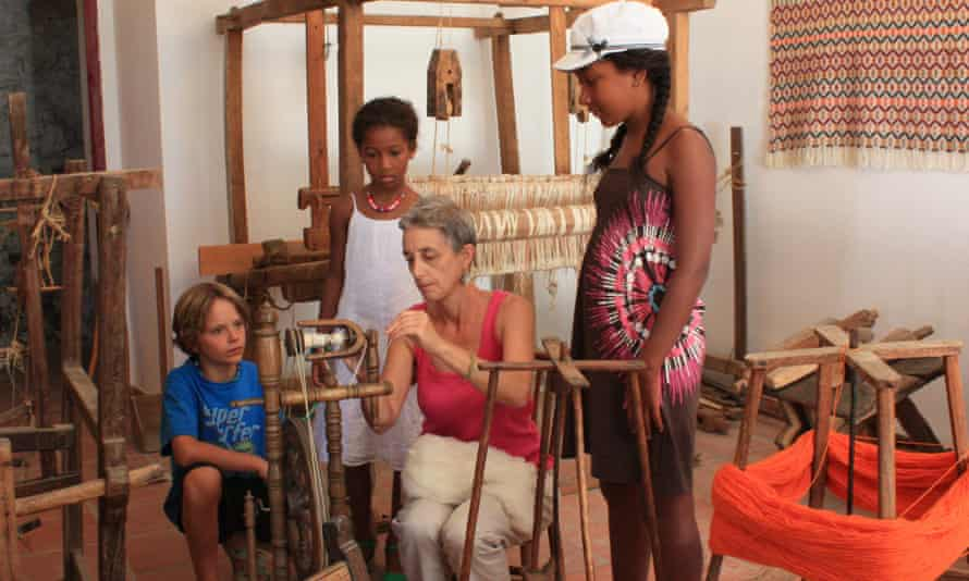 Las Chimeneas offers activities such as weaving archery, family yoga and circus skills