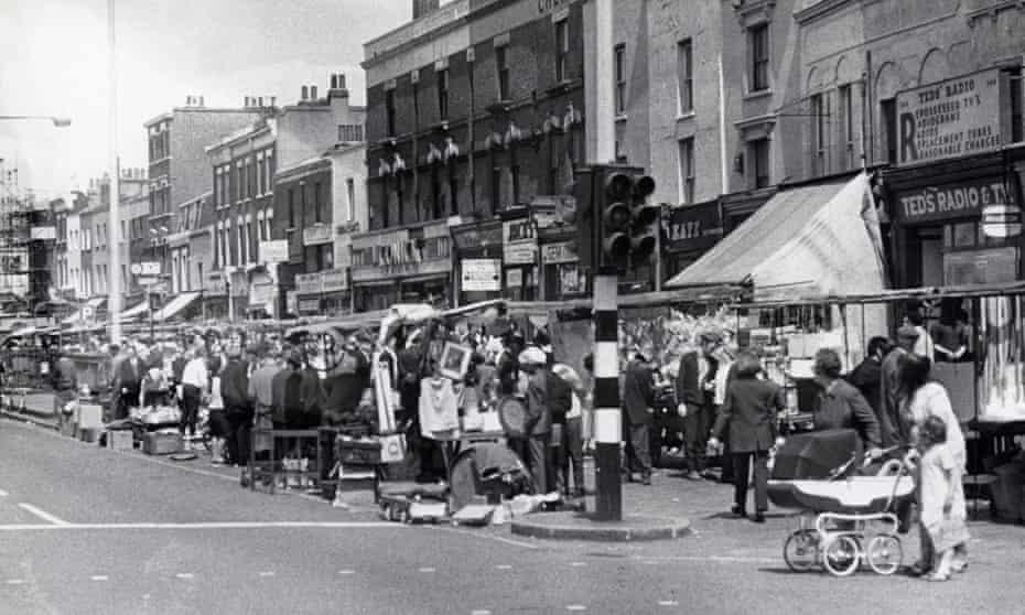 Kingsland Waste market during much busier days in 1969.