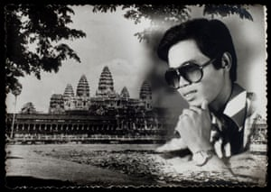 Thoughts of Angkor Wat, 1985  Combination Printing of a portrait and a landscape of Angkor Wat. This style of photography is still very popular in Cambodia.