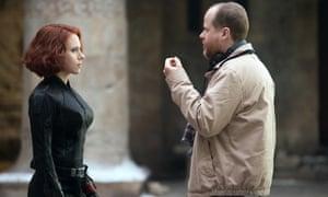 With Scarlett Johansson.