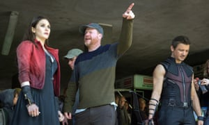 Directing Elizabeth Olsen and Jeremy Renner.