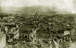 A picture released by the Armenian Genocide Museum-Institute dated 1920 shows a panoramic view of Shushi, in the Armenian region of Karbakh, after it was purportedly destroyed by Ottoman troops.