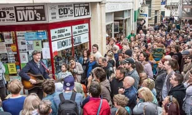 Billy Bragg at Raves from the Graves in Frome