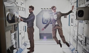 Drummer Wrigglesworth, left, and frontman J. Willgoose, Esq of Public Service Broadcasting.