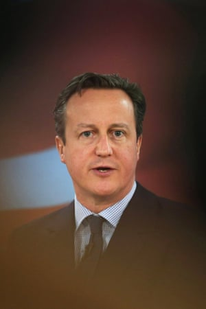 David Cameron: a descent from hyperbole into bathos, from gross exaggeration to trivial anticlimax.