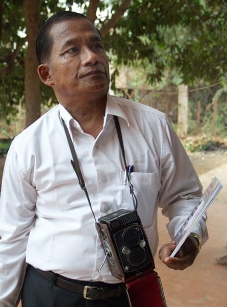 Nhem En at home in Siem Reap.