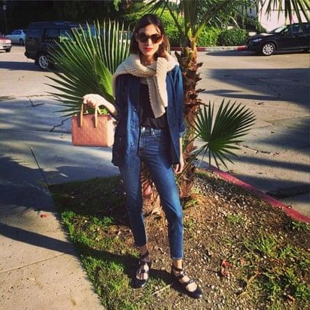 Alexa Chung wears double denim