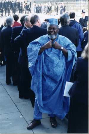 Bernie Grant MP, wearing ceremonial African dress for the Queen's Speech, 1996