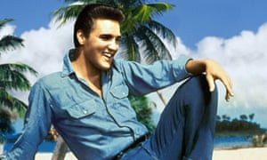 Elvis Presley wears colours fit for the King