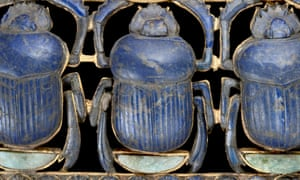 Scarab pendant from the tomb of Tutankhamun