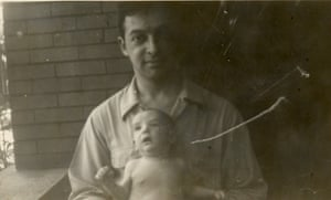With his son Greg in 1944.