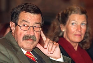 Günter Grass with his wife Ute in 1997.