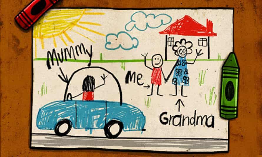Childcare/grandparents illustration by Ben Jennings