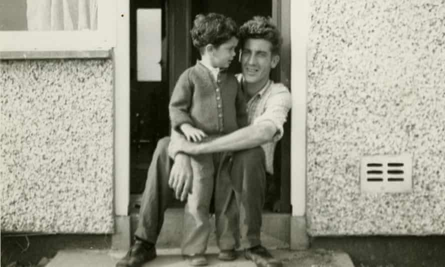 Stephen Moss and his father