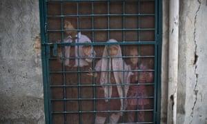Children at a school in Peshawar