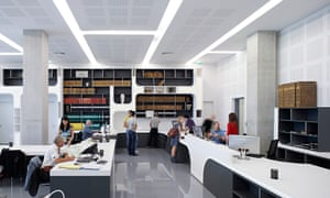 Library interior, Pierresvives Building, Montpellier, France
