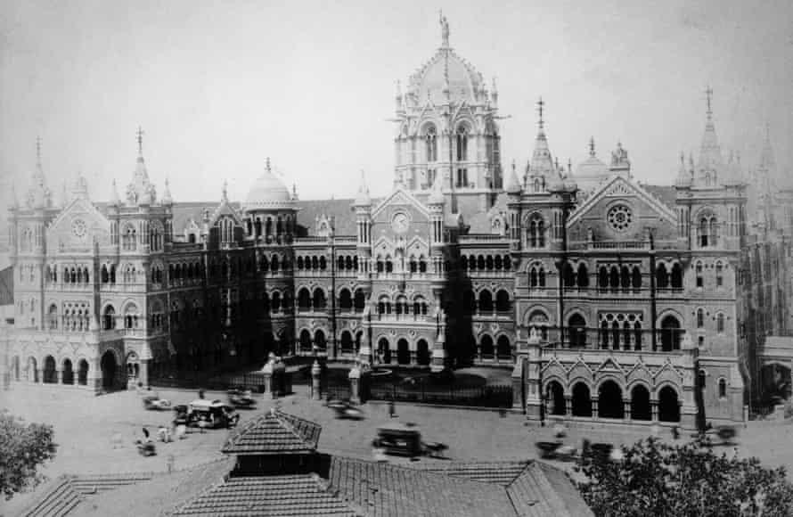 Victoria Terminus in Bombay, circa 1900.