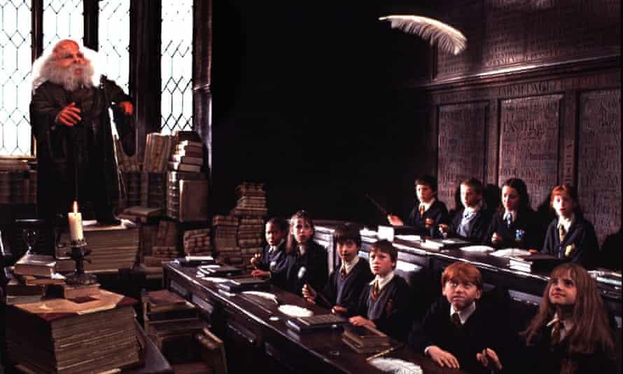 Scene from Harry Potter movie