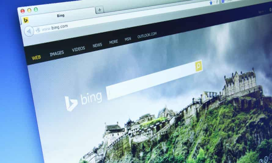 The Bing search engine.
