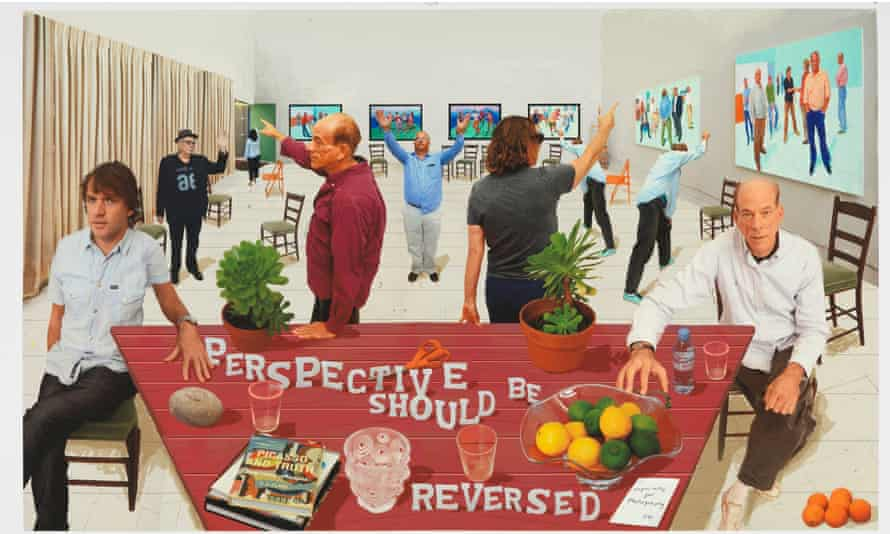 Perspective Should Be Reversed 2014 by David Hockney. Photographic drawing printed on paper. mounted on Dibond 42.