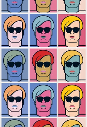 Andy Warhol. All illustrations by Andy Tuohy